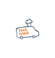 Street van with fast food logo design vector image