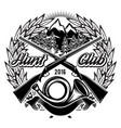 stylish monochrome hunting club template vector image