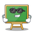 super cool chalk board character cartoon vector image