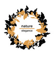 template nature circle 2 vector image vector image