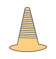 trafic cone vector image vector image