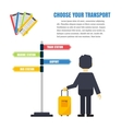 Transport infographic vector image vector image