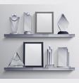 trophies shelves set vector image vector image