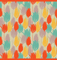 tulip flowers stems seamless pattern in retro vector image vector image