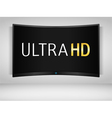 Ultra HD TV vector image vector image