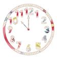 Vintage clocks vector image