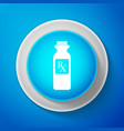 white pill bottle with rx sign and pills icon vector image vector image