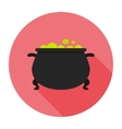 witches cauldron vector image vector image