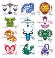 zodiac astrology horoscope vector image vector image