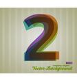 Color Transparency Symbol 2 vector image