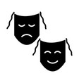 theater - masks show icon vector image