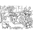 cartoon insects for coloring book vector image