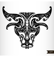 Zodiac signs black and white - Taurus vector image