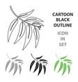 eucalyptus icon in cartoon style for web vector image