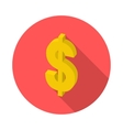 flat isometric icon dollar vector image