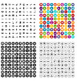 100 transport company icons set variant vector image vector image