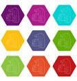 30 50 70 percent sale icons set 9 vector image