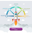 5 business start-up infographic template vector image vector image