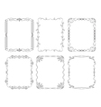 6 black rectangular frames vector image