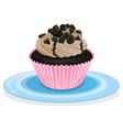 a cupcake vector image vector image