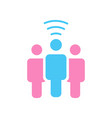 a wifi symbol person communicates blog or other vector image vector image