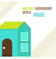Abstract background with a house in a flat style