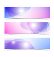 abstract horizontal banners set vector image vector image