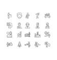 adult line icons signs set outline vector image vector image