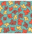 autumn seamless pattern maple leaves vector image vector image