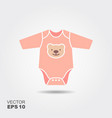 baby boy bodysuit flat icon vector image