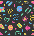 bacteria microbe virus colorful seamless vector image