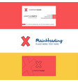 beautiful cross logo and business card vertical vector image vector image