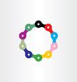 bicycle chain circle logo vector image vector image