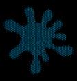 blot mosaic icon of halftone circles vector image vector image