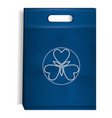 blue eco bag icon realistic style vector image
