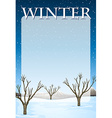 Border design with winter theme vector image vector image