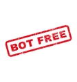 Bot Free Text Rubber Stamp vector image vector image