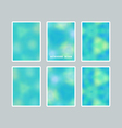 Bright blurred backgrounds set vector image vector image