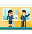 Business people near water cooler vector image vector image