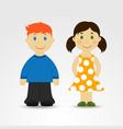 Cartoon boy and girl vector image vector image
