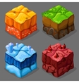 Cartoon Isometric Cubes Set vector image vector image