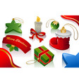 christmas ornaments background vector image vector image