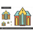 church line icon vector image