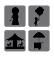 Circus icons design vector image