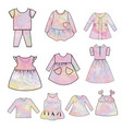 collection baand children clothes collection vector image