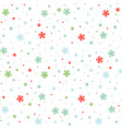 colored seamless pattern of falling flowers on a vector image vector image