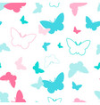 colorful butterfly seamless pattern vector image