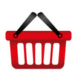 colorful silhouette with shopping basket with two vector image
