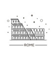 colosseum in rome icon vector image vector image