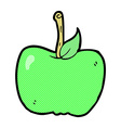 comic cartoon apple vector image vector image